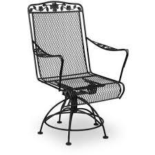 Swivel Rocker Patio Chair Meadowcraft Dogwood Wrought Iron Swivel Rocker Patio Dining Chair