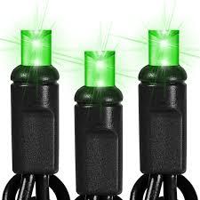 25 ft string light black wire 50 lime green led bulbs