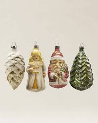 antique blown glass figure ornament set balsam hill