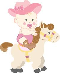 cowgirl baby shower clipart 35