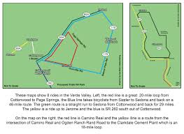 Jerome Arizona Map by Biking The Verde Valley The Verde Independent Cottonwood Az