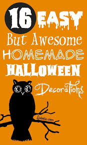 Halloween Decorations To Make At Home Make Homemade Halloween Decorations Ween Billybullock Us
