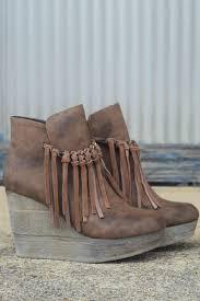 s boots with fringe sbicca zepp fringe wedges leopards wedges and vintage