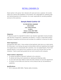 Resume Objective For Retail Job by Good Resume Objectives For Retail Jobs Cashier Resume Objective