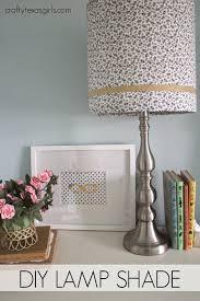 Diy Lamp Shade Crafty Texas Girls Diy Floral Lampshade