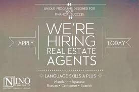 Realtor Job Description For Resume by Career Opportunities Real Estate Agents Nino Properties