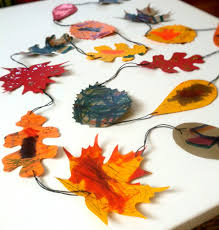easy diy paper leaf garland craft to do with your kids shalom