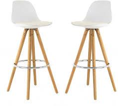chaise bar chaise de bar circus lot de 2 blanc
