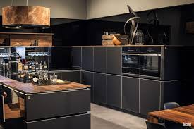 open shelving ideas gray kitchen island with wood countertop double wall ovens wooden