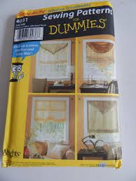 simplicity 4031 window shades sewing pattern uncut complete