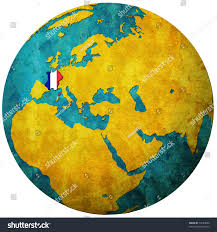France On Map by France Territory Flag On Map Globe Stock Illustration 74593000