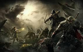 elder scrolls v skyrim warriors archer men monster armor game
