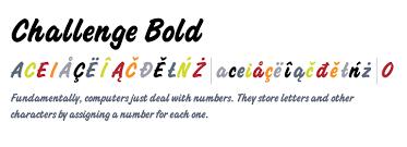 Challenge Std Challenge Bold Fonts