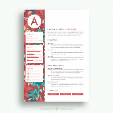 pretty resume templates cv template vectors photos and psd files free