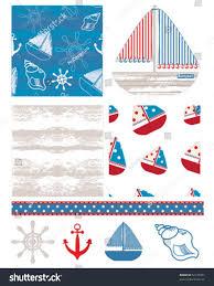 fun nautical themed backgrounds print onto stock vector 52173367