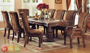 dining room sets round table formal dining room sets for 8 merlot 9 piece formal dining room