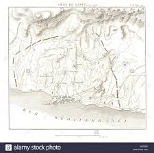 Corsica Map Siege Of Bastia 1794 War Of The First Coalition Corsica Stock