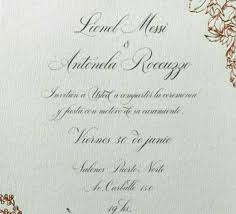 Invitation Card For The Wedding See Invitation Card To Lionel Messi U0027s Wedding Set To Take Place On