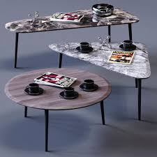 Low Table Set - moltenic coffee table set 3d model cgtrader