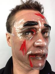 halloween purge transparent plastic halloween horror purge style blood scars fancy