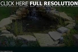 backyard small backyard koi pond design with stone border and
