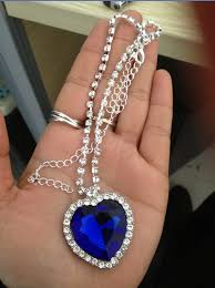 necklace titanic images Heart of the ocean blue crystal titanic necklace fast shipping jpg