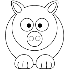 simple cartoon pig coloring free printable coloring pages