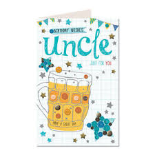 birthday wishes uncle just for you male pint beer design happy