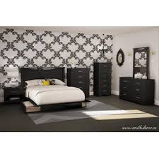 Black Platform Bed Queen Storage Full Queen Platform Bed Black Modern Furniture From Kmart