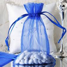 organza drawstring bags 6x9 organza drawstring bags royal blue 10 pack efavormart