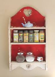 Shabby Chic Spice Rack Vintage Wood Shabby Chic Farmhouse Cottage Distressed White 3 Tier