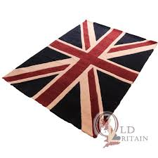 Purple Union Jack Rug Union Jack Rug Medium Size 120 X 180 Cm Real Wool Thick Pile