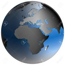 World Map Africa by Highly Detailed World Map In Spherical Co Ordinates With Europe