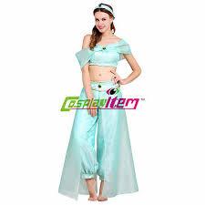 Jasmine Halloween Costume Adults Aladdin Jasmine Princess Dress Costume Halloween Party