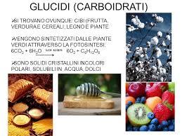 glucidi alimenti glucidi carboidrati ppt scaricare