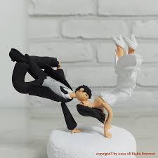 custom wedding cake topper break dancing couple cake topper