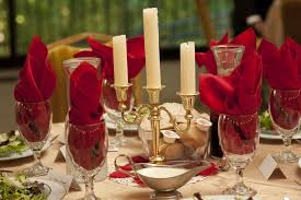 lumiere table centerpiece and setup beauty and the beast wedding