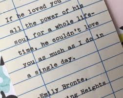 wedding quotes emily bronte emily bronte quotes etsy