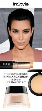 these are the foundations kim kardashian keeps in her makeup kit