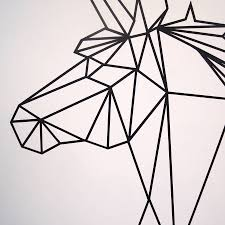 geometric unicorn wall sticker by parkins interiors geometric unicorn wall sticker