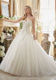 wedding dress factory outlet beaded embroidery on tulle cinderella gown style 2892 morilee