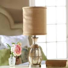 glass lamp with burlap shade image of mercury glass table lamp