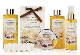 Bath Gift Sets Pinkleaf Nature Spa Vanilla Argan Oil Bath Gift Set In Antique