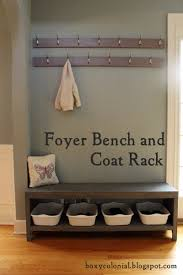 the coat rack and shoe bench nine months later