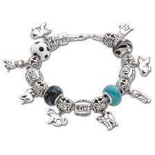 charm bracelet european images Cat beadz charm bracelet the danbury mint jpg