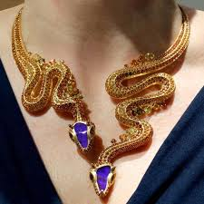 necklace snake images Lydia courteille queen of the desert snake necklace blue opal jpg