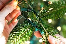 how to put lights on a christmas tree video trees with christmas lights