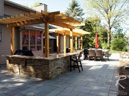 kitchen patio ideas craftsman outdoor kitchen and fireplace traditional patio