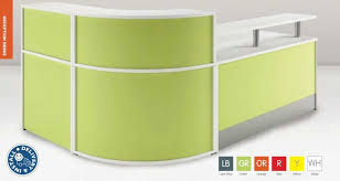 Modular Reception Desk Coloured Curved Modular Reception Desk 2400 Mm X 1800 Mm