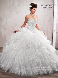 quinceanera dresses white 3 lace top ruffled dress by s bridal alta couture 4t194